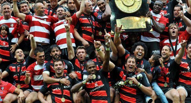 2012, le Stade Toulousain vient de remporter son dernier titre (avant le prochain...) :  18-12 face à Toulon. / Photo DDM, Jean-Marie Lamboley