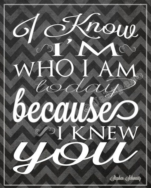 "Wicked Quote - I Know I'm Who I am Today ""For Good"" INSTANT DOWNLOAD Printable Moving Friendship Friend Coach Teacher Gift Wall Art Musical on Etsy, $3.98"
