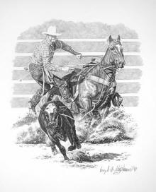 Western Pencil Drawings, prints of western art, Americana, cowgirl, cowboy artwork by Virgil C. Stephens