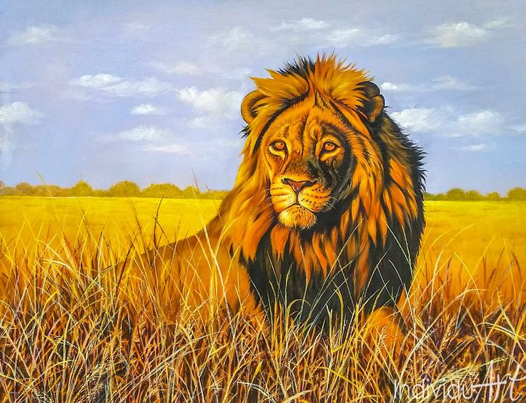 Lion Oil Painting Lion in the Savanah. Majestic!   #art #arty #artist #artlovers #artsy #artoftheday #paintings  #fineart #fineartist #Africanart #oilpainting #painting #oiloncanvas #illustration #drawing #instaartist #artgallery #masterpiece #instaart #beautiful  #wildlife #wildlifeplanet #wildlifephotography #wildanimals #bigfive #Elephant