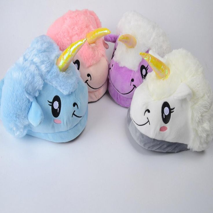 [Visit to Buy] New Winter Plush Unicorn Slippers Cute Funny Couple Slipper Men Women Home&House Shoes Warm Cotton Pantufas Zapatillas Unicornio #Advertisement