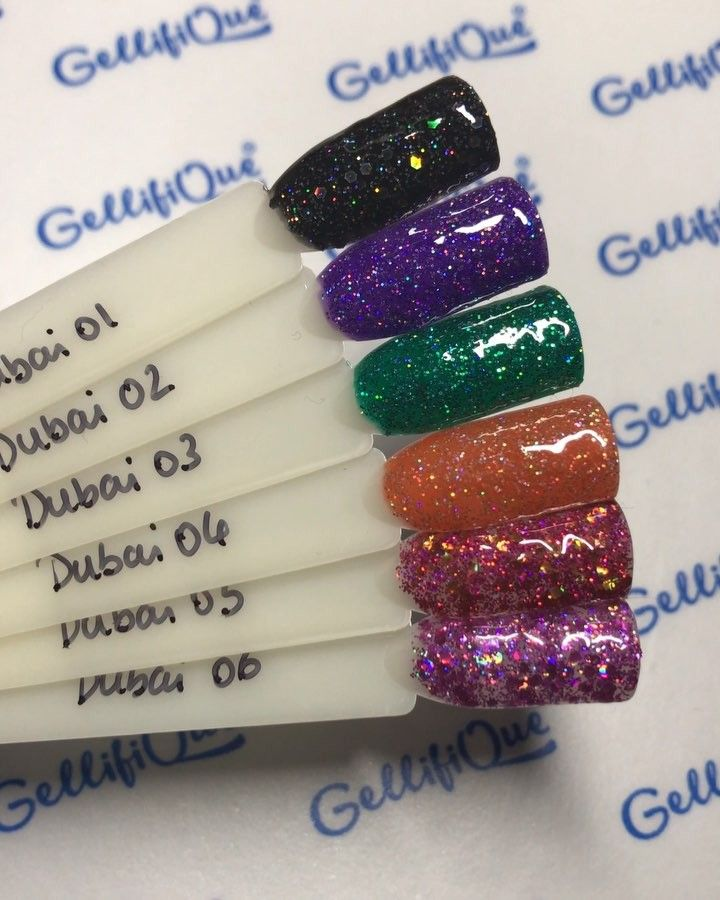 "Dubai"" Range is a mix of really thick glitter particles and fine ..."