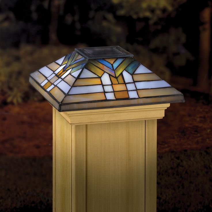 51 Best Images About Stained Glass Post Caps On Pinterest