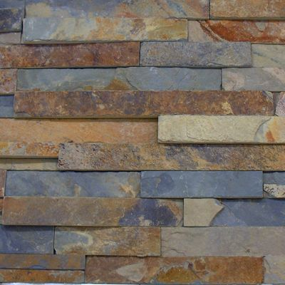 Kitchen Backsplash Rustic 10sf rustic copper linear natural slate blend mosaic tile kitchen