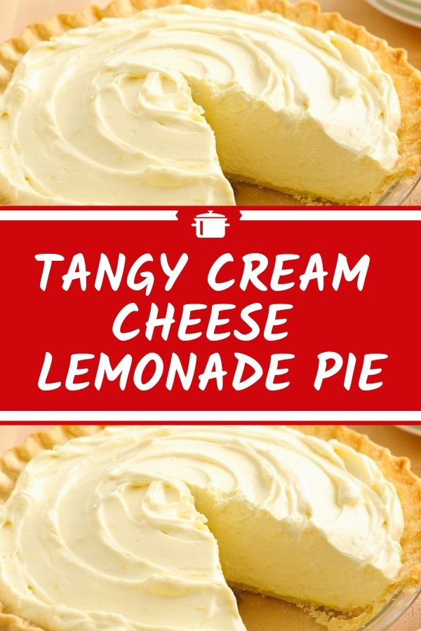 Tangy Cream Cheese Lemonade Pie # Cremekäse #lemon #pie #desserts