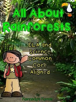 This Mega Rainforest Unit has 247 pages of Rainforest Information integrated with Common Core ELA Activities for your students to become Rainforest Experts!Comprehension Skills and Activities:KWL ChartsAre-Can-Have ChartsVocabulary DevelopmentNote taking on a 4 square  Main Idea and DetailsFact and OpinionMultiple Choice QuestionsShort Answer Comprehension QuestionsText Based Evidence QuestionsSequencing Steps in a ProcessCompare and Contrast Sorting and ClassifyingTrue and False…