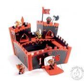 Un vrai Château fort avec un pont-levis à manivelle ! Découvrez le monde des figurines chevalier Arty Toys et le Chateau ZE RED CASTLE de Djeco... http://www.lapouleapois.fr/42-les-figurines#/categories-les_chevaliers_arty_toys