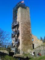 Věž zříceniny hradu Orlík - u Humpolce | Turistický portál vítejte na Vysočině
