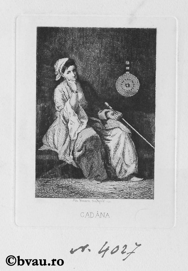 """Theodor Aman, Cadână, 1872. Imagine din colecțiile Bibliotecii """"V.A. Urechia"""" Galați."""