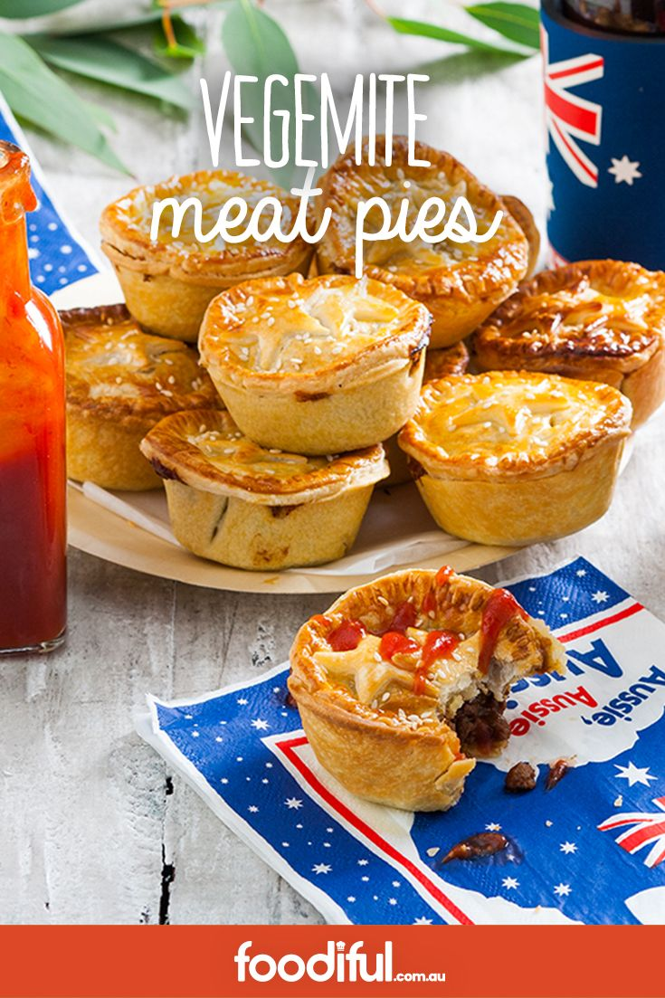 Aussie Aussie Aussie! The salty edge in these delish little party pies is something that guests will go mad for.  50mins   Serves 12