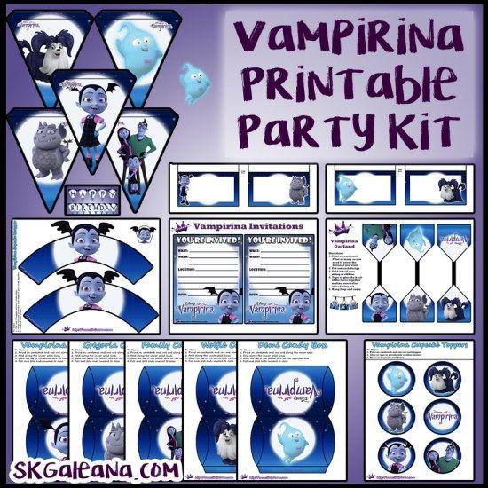 Free Disney Junior Vampirina Printable Party Kit