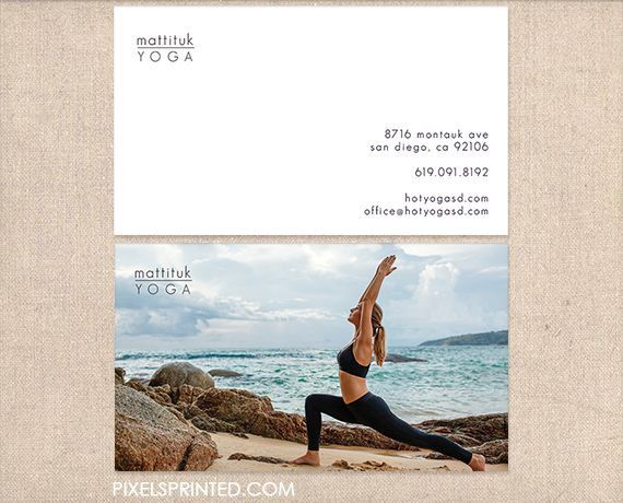 14 best business card ideas images on pinterest business cards yoga business cards thick color both sides free ups ground shipping reheart Images