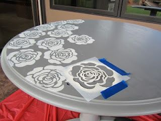 Stenciled Table Makeover   For The Little Table In The Living Room: