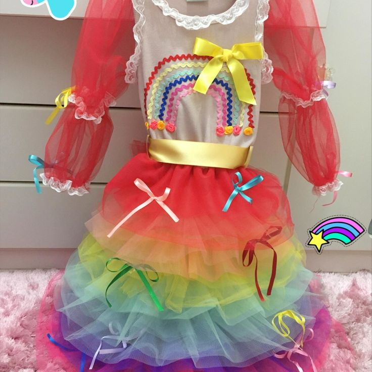 Vestido Junino Arco-íris