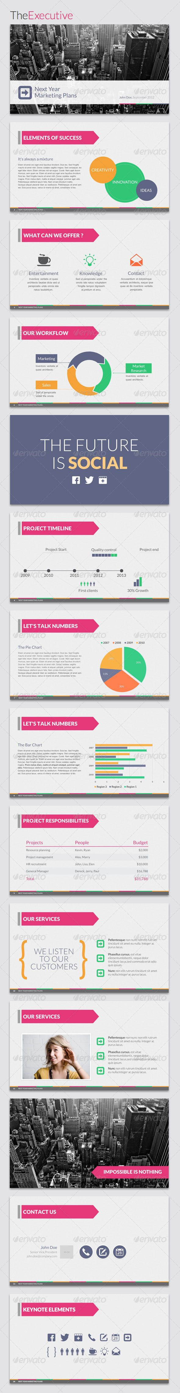 TheExecutive Powerpoint Template - GraphicRiver Item for Sale