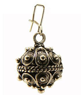 Traditional silver filigree earring from Croatia