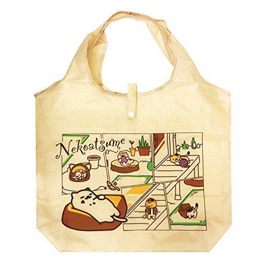 Neko Atsume Mini Tote Ecological Bag (Cats Gathered / Beige)