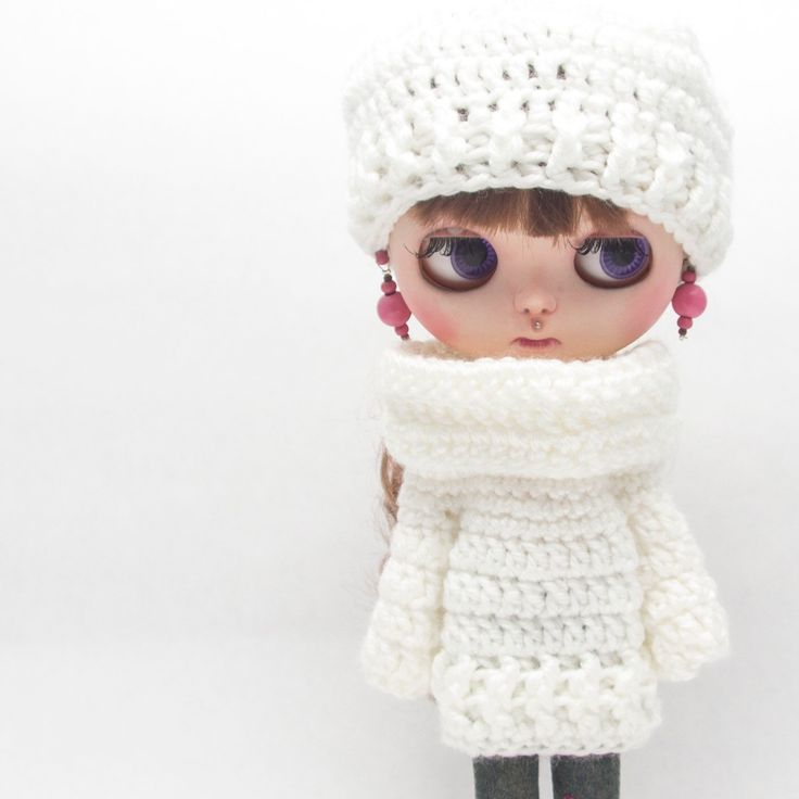 Crochet Blythe doll set hat and sweater ❄️