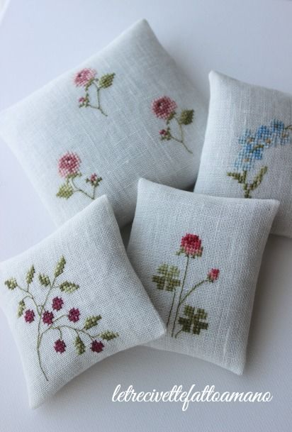 flowers embroidery cross stich