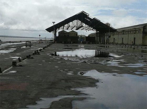 Imagens revelam estado de abandono e sucateamento acelerado do Porto de Cabedelo