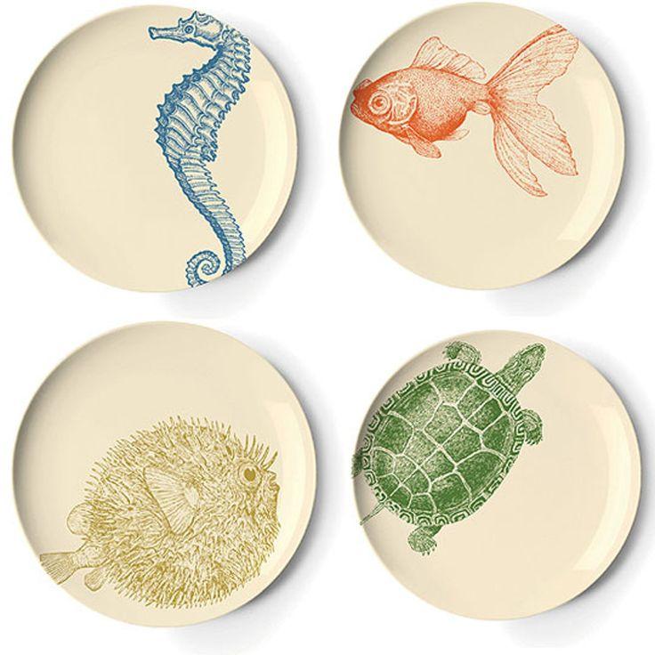 Thomas Paul Sealife Dessert Plates