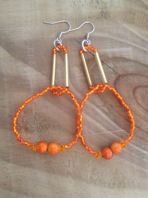 Ohrringe orangetree Orange Creolen von FKBMartandaccessoire auf Etsy