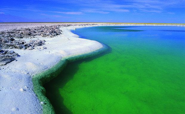Laguna Cejar, no Salar do Atacama, no Chile