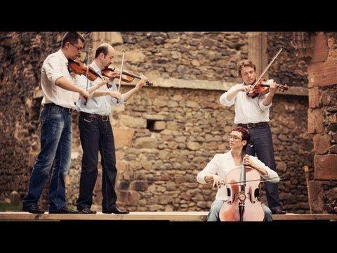 Coldplay - Viva La Vida violin instrumental cover - string quartet - YouTube