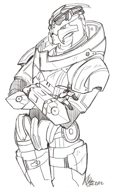 mass effect 3 coloring pages - photo#18