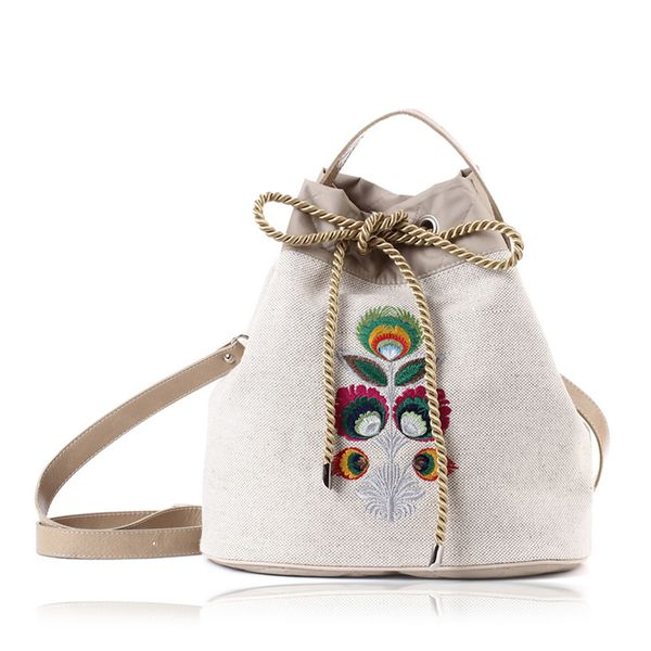 PRODUCTS :: WOMEN :: ACCESSORIES :: Bags & Handbags :: Shoulder bags :: TOREBKA LNIANA FOLK SUMMER 418 - Design products from around the world - DESIGN FORUM SHOP