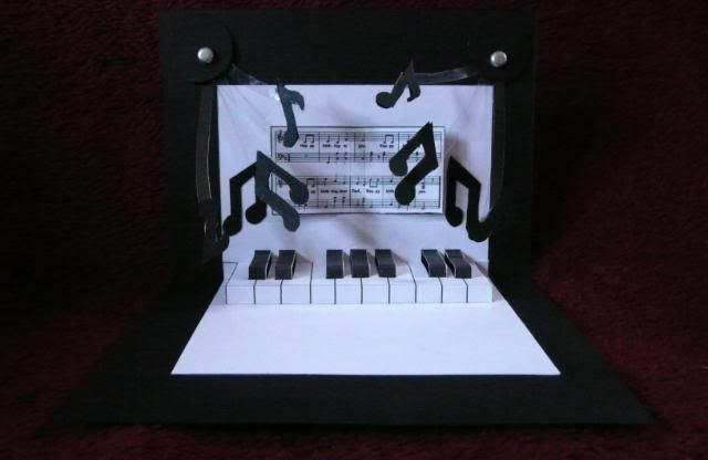 ... Card, Happy Birthday, Cards Pop Up Piano Happy, Pop Up Cards, Easy
