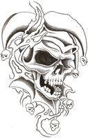 deviantART: More Like Skull snake roses by davart11