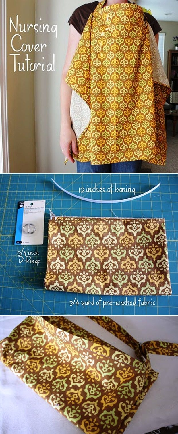 The Cutest Baby DIY Projects Nursing Cover Tutorial-- really wish I could sew so I can make this!
