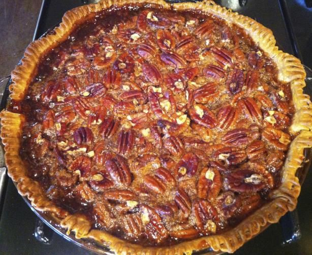 Jack Daniel's Pecan Pie. I've been making this recipe for over 20 years.  It's so pretty when you make it in a tart pan.