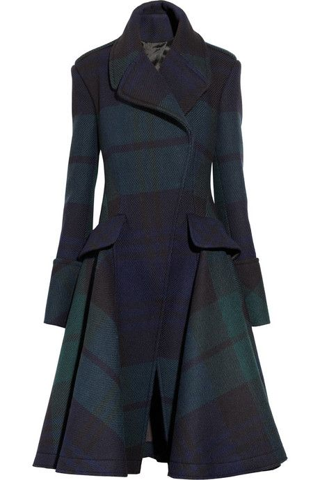 Why isn't men's clothing as cool as women's clothing, example number 327,610: this Alexander McQueen coat in black watch plaid.