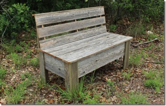 Rustic Bench Plans Make Your Own Bench Using Old Fence