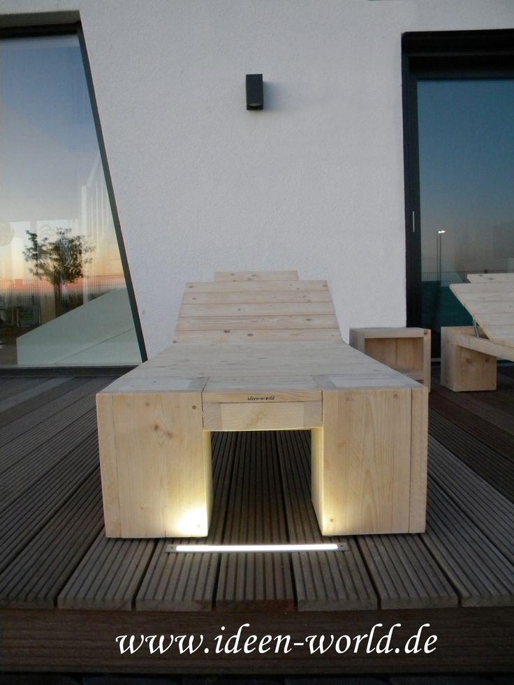 Kreative Holz Möbel Sonnenliegen