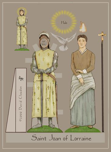 Saint Paper Dolls by David Claudon..Go to his great website for free paper dolls...and their stories.