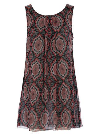 burda style, Schnittmuster - Die ärmellose Seidentunika hat einen runden Ausschnitt und ist halb transparent