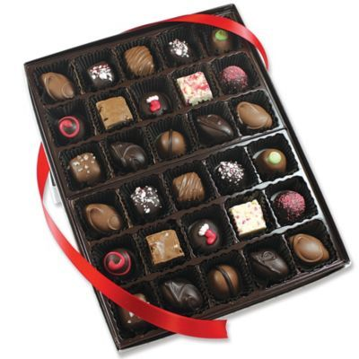 If visions of sugarplums dance in their heads, the Christmas Assorted Chocolates is sure to make them leap for joy.: Christmas Assort, Assort Chocolatesss