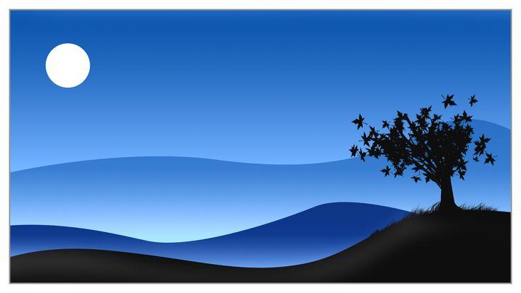 Simple Digital Art Landscape Wallpaper | Art | Pinterest