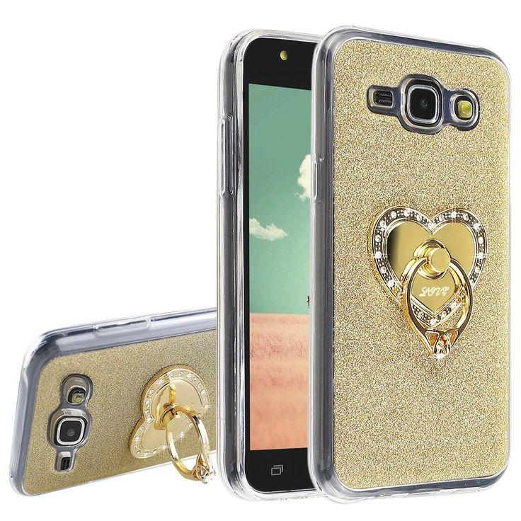 Asnlove J1 Samsung Galaxy-Custodia posteriore morbida in TPU, con anello in oro con diamante, a forma di cuore con supporto, girevole a 360°, per Samsung Galaxy, J1, plastica, Color-3, Samsung Galaxy J1: Amazon.it: Giochi e giocattoli