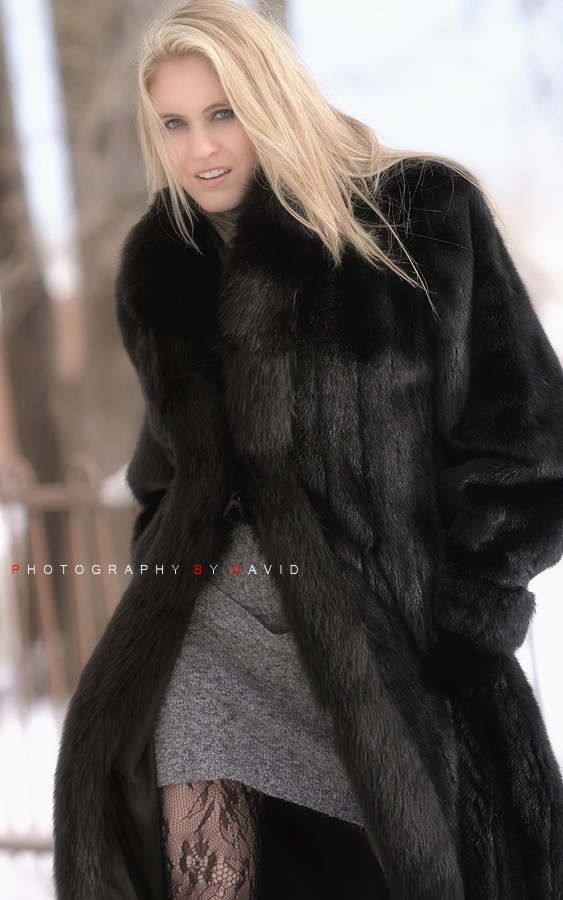 Black, floor length mink :) sooo warm..so luxe..even with jeans ...