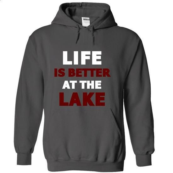 Life is Better At the Lake - #long #first tee. I WANT THIS => https://www.sunfrog.com/Fishing/Life-is-Better-At-the-Lake-4143-Charcoal-18739201-Hoodie.html?60505