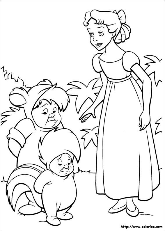 Peter Pan Lost Boys Coloring Pages image information