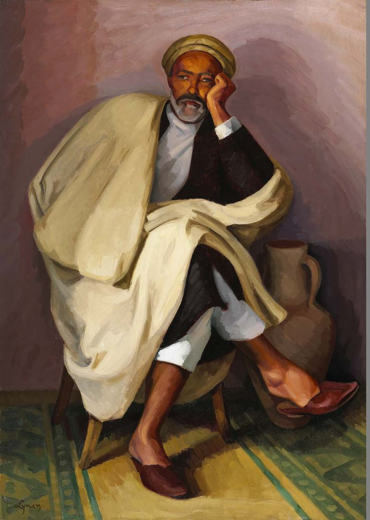 John Lyman, Le philosophe arabe, vers 1920-1926. Huile sur toile - See more at: https://www.mnbaq.org/blogue/2014/06/10/le-philosophe-arabe#sthash.JAFfEudb.dpuf