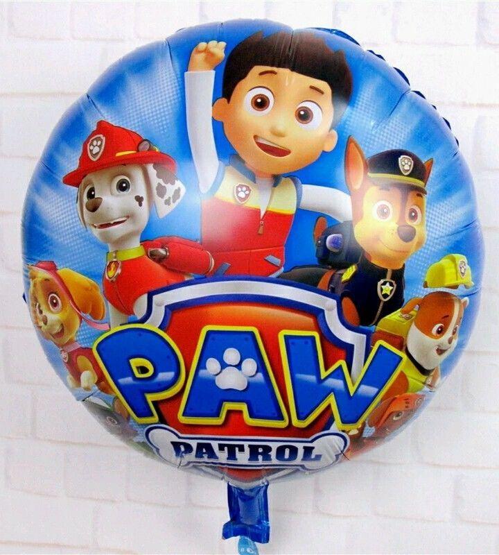 1 X PAW PATROL helium foil balloon PAW PATROL PARTY SUPPLIES