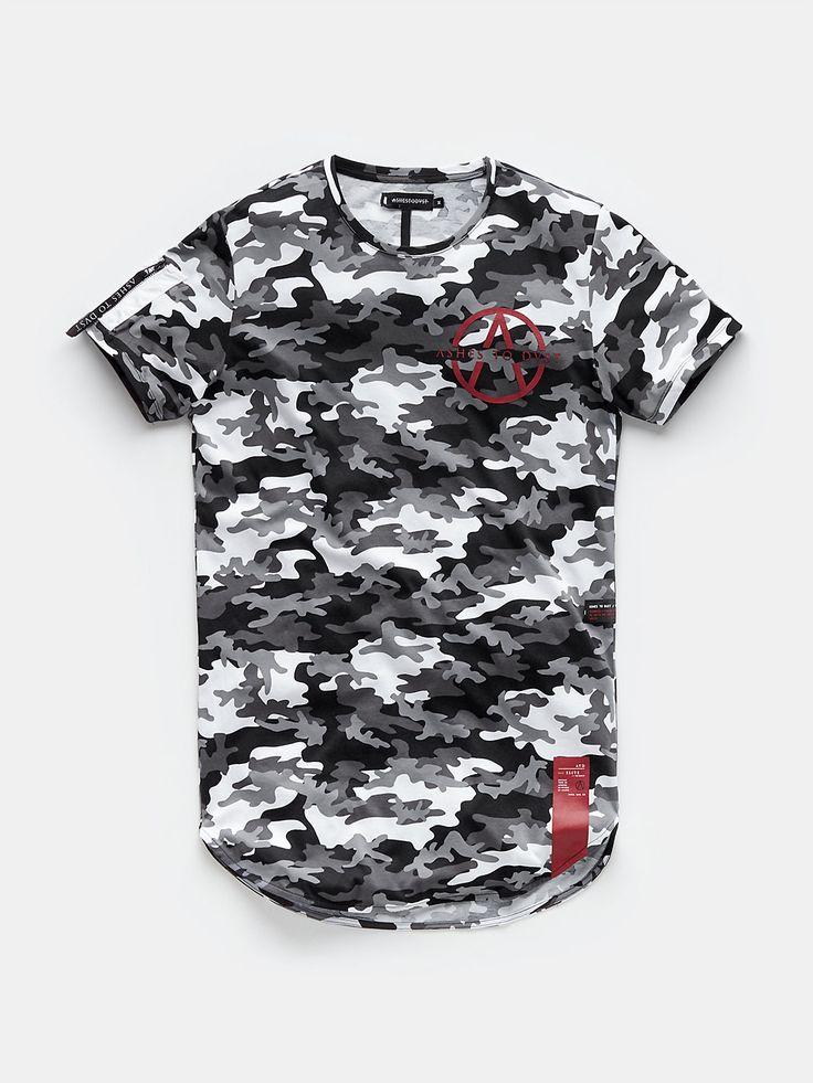 camouflage print t-shirt white