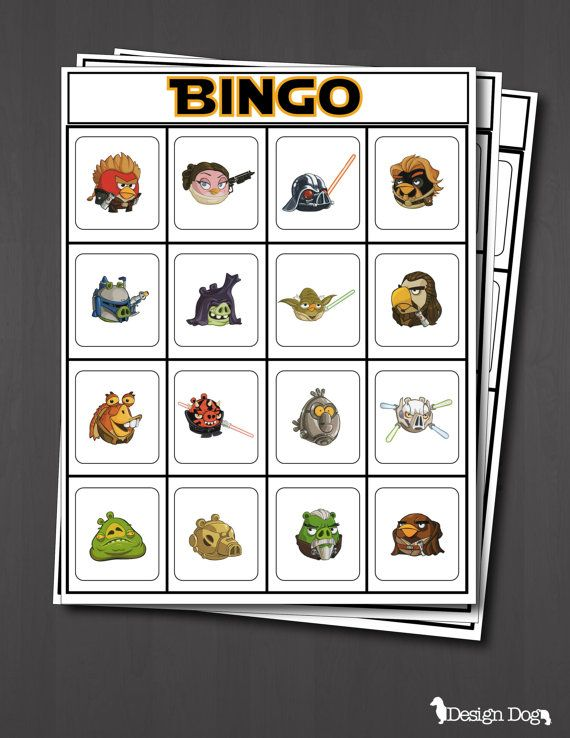 Star Wars Angry Birds 2 Birthday Party Bingo Game- Set of 15. Message me through Pinterest if you are interested in purchasing this instant download!