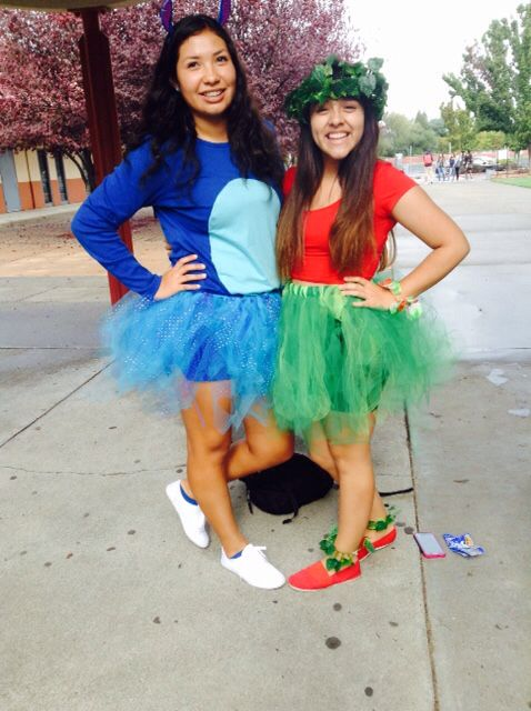 Ideal Halloween costumes!  Lilo and Stitch.